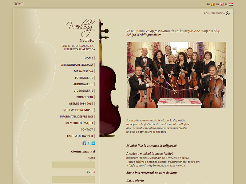 Site de prezentare WeddingMusic.ro